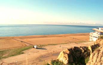 Playa de Cavaió en Arenys de Mar en Cataluña